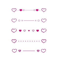 Heart dividers scribble borders vector image vector image