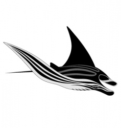 manta ray tattoo vector image vector image