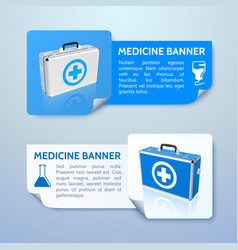 medical treatment horizontal banners vector image vector image