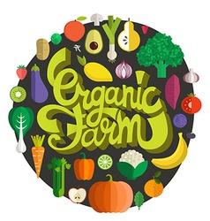 Organic Farm vector image vector image
