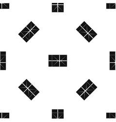 postal parcel pattern seamless black vector image vector image