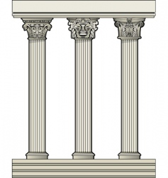 roman architectural columns vector image vector image