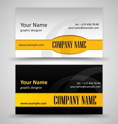Set of black and orange business cards vector image vector image