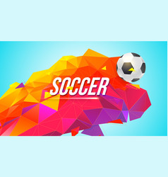 Soccer banner for tournaments championships game vector