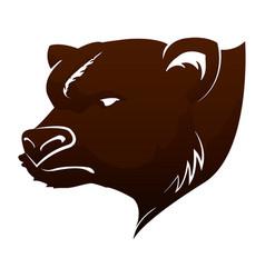 stock market bear vector image