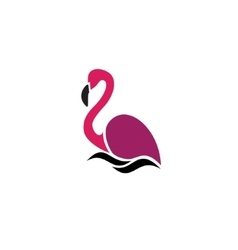 Stylized silhouette of a flamingo vector