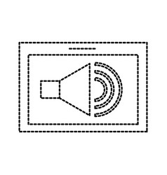 Tablet speaker audio technology button online vector