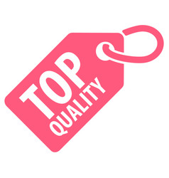 top quality tag vector image