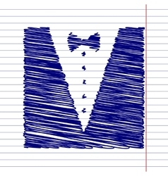 Tuxedo with bow vector