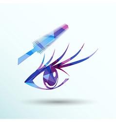 Woman eye with beautiful makeup and long eyelashes vector image vector image