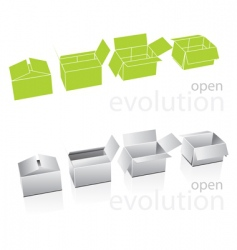 carton boxes vector image