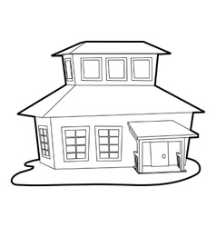 Big house icon outline style vector