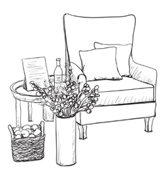 Chair sketch style  relax vector