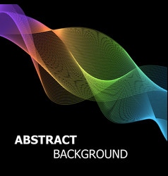 Colourful abstract line wave background vector