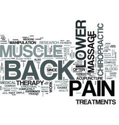 Z lower back muscle pain text word cloud concept vector