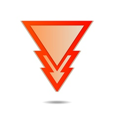 Triangle pointer vector