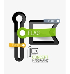Flag icon infographic concept vector