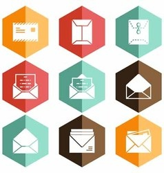 Solid icons envelope vector