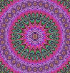 Abstract oriental star mandala design background vector image