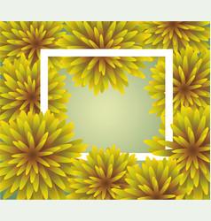 abstract yellow floral greeting card - holiday vector image vector image