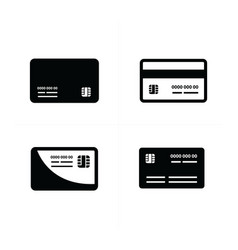 black credit cards set vector image vector image