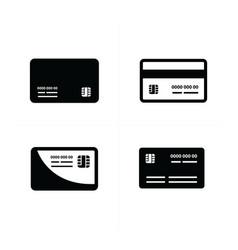 Black credit cards set vector