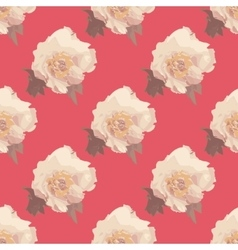 Bouquet of white Peony flowers Seamless pattern vector image