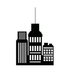 Business buildings skyscrapers exterior silhouette vector
