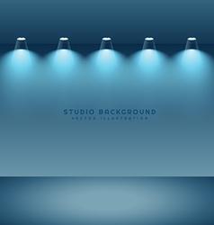 empty clean studio background vector image vector image