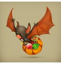 Funny bat icon vector image vector image