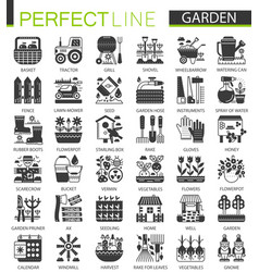 gardening flower equipment classic black mini vector image
