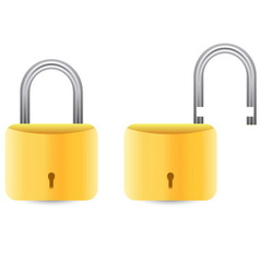 golden padlock set vector image