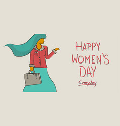 Happy international womens day concept design vector