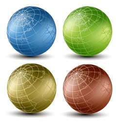 Isometric earth vector