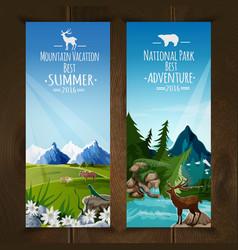 Landscape banner set vector