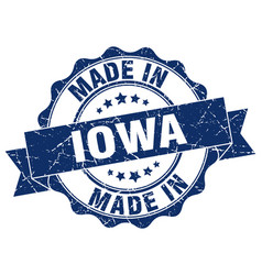 Made in iowa round seal vector