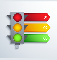 Modern traffic infographic background vector
