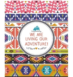 Navajo seamless tribal colorful pattern vector
