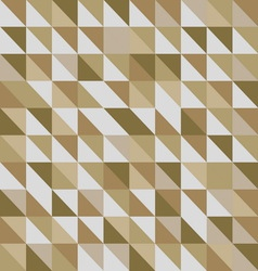 Retro triangle pattern with brown background vector
