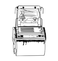 Road roller under the white background vector