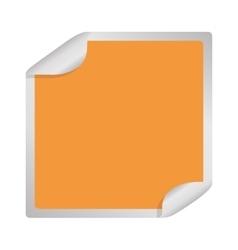 square sticker icon vector image