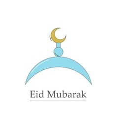 Symbol of the muslim eid mubarak vector