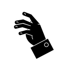taking hand icon black sign vector image vector image