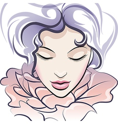The flower face vector image vector image