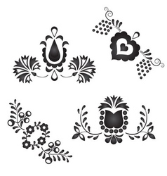 Traditional folk ornaments vector
