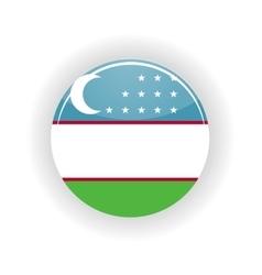 Uzbekistan icon circle vector