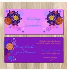 Winter snowflakes design wedding invitation card vector image vector image