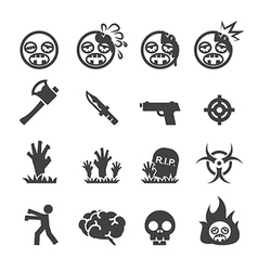 Zombie icons vector image vector image