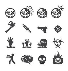 Zombie icons vector
