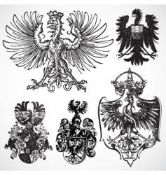 Eagle gothic ornaments vector